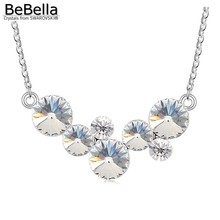 BeBella round bubbles pendant necklace Made with Austrian crystals from Swarovski for women gift(China)