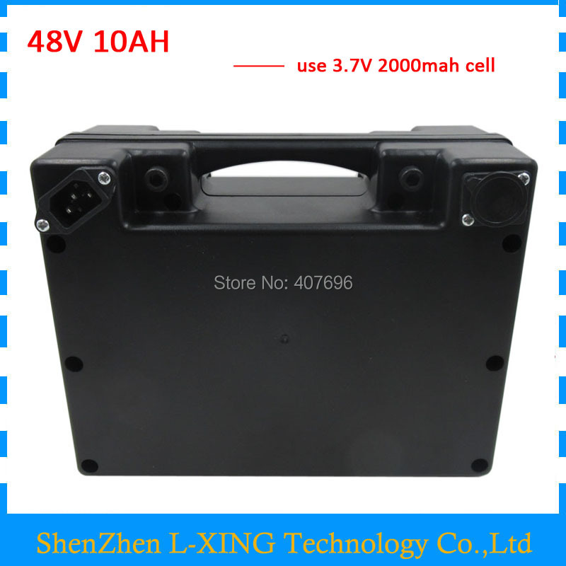 Wheelchair battery 48V 10AH 48 V ebike Lithium ion battery 10AH with waterproof black case 15A BMS 2A Charger frog case ebike lithium ion battery 24v 10ah electric bike battery with charger and bms