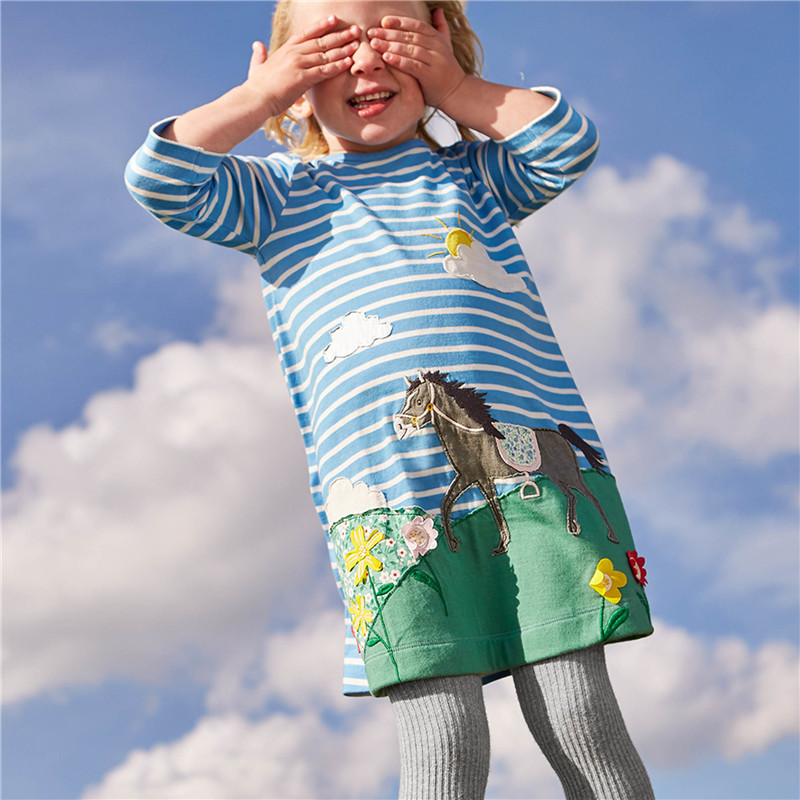 VIDMID Girls dresses baby girl long sleeve dress cotton dress for girl children new spring blouse t-shirts shirts children