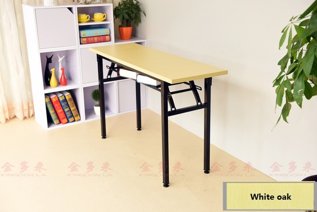 Multifonctionnel rectangle oblong pliable ordinateur bureau