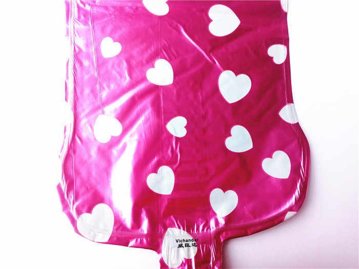 32 16 นิ้ว Rose Gold เงินสีแดงสีชมพูจำนวนบอลลูน Inflatable Air Ball FIGURE หลักฟอยล์วันเกิดงานแต่งงานตกแต่ง ball