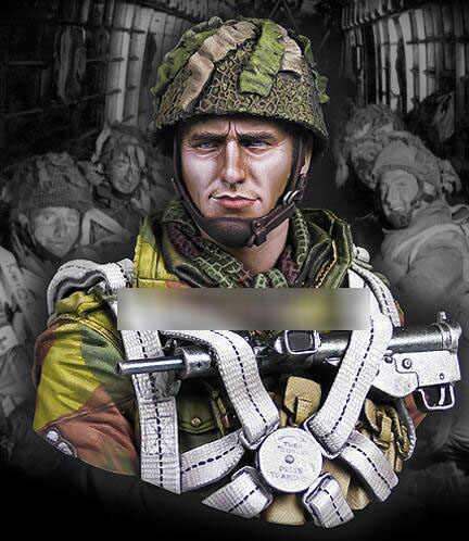 1/10 تمثال نصفي من الراتنج الحرب العالمية الثانية شخصيات الجيش البريطاني المحمولة جوا لم يتم تجميعها بشكل غير ملون