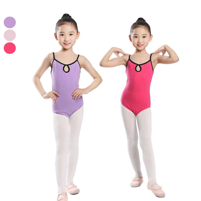 f12f194f1cd3 Spandex cotton gymnastics leotard sleeveless ballet dress Dancing ...