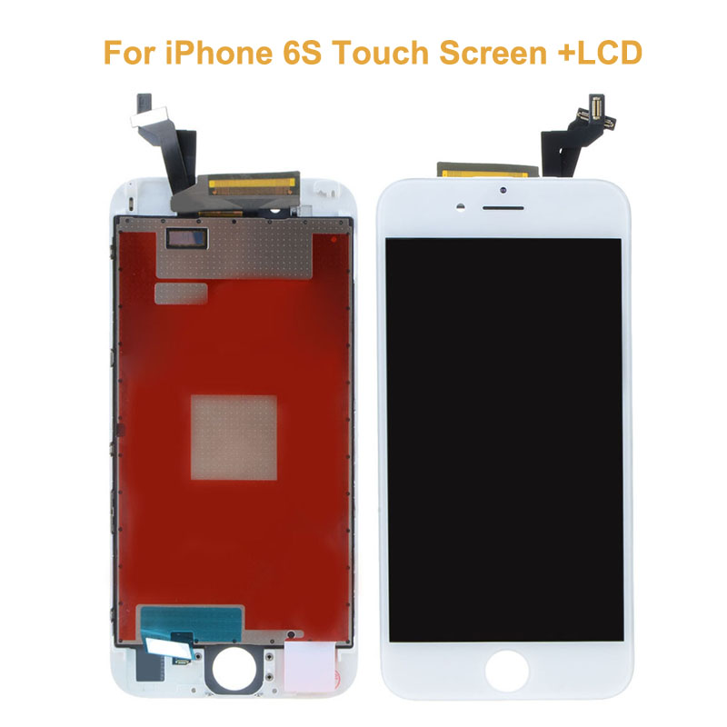 5 PCS/LOT New Black White LCD Display For iPhone 6S+4.7 Touch Screen Touch Panel Glass Sensor Digitizer Assembly Replacement