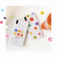 Minimum mobile phone case for iphoneX XS XR XsMax Flower Pattern Sweet Summer iphone6s 6 7 8 Plus IMD back cover