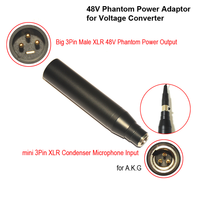 Condenser Mic Xlr Adaptor Ta3f Mini 3pin Condenser Microphone Xlr To 3pin Male Xlr Phantom Power