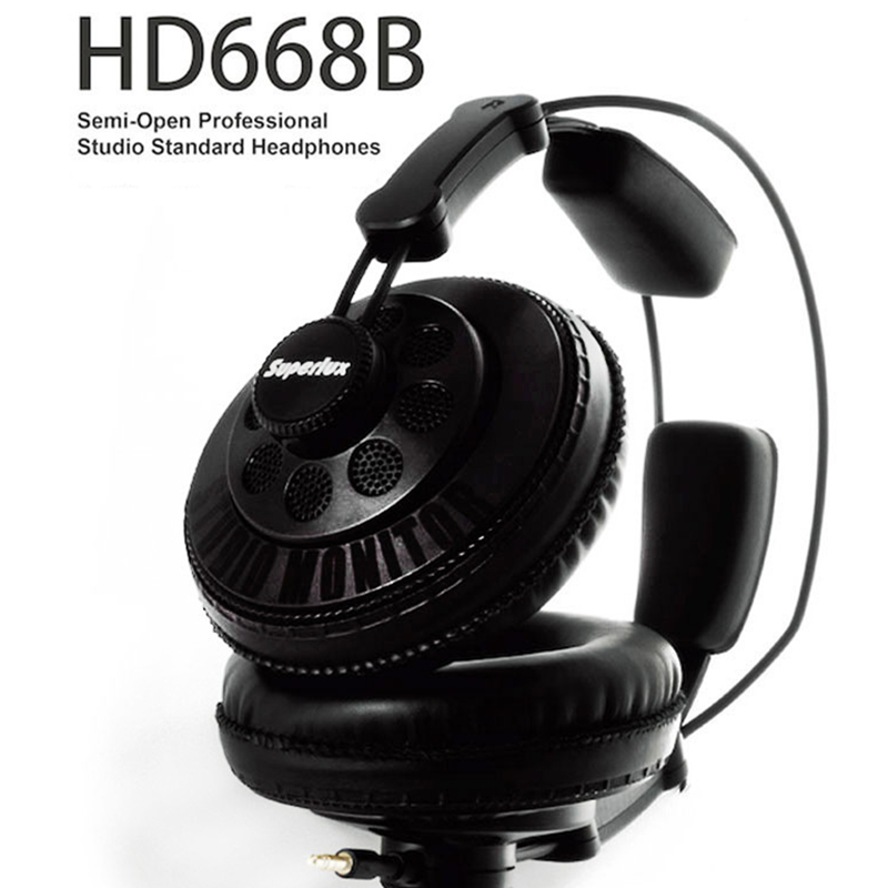 Original Superlux HD668B Headphones Semi-open Dynamic Professional Studio Monitoring DJ Headset Auriculars Free Shipping brand new original superlux hd330 headphone professional monitoring semi open dynamic noise isolating over ear dj hifi headset