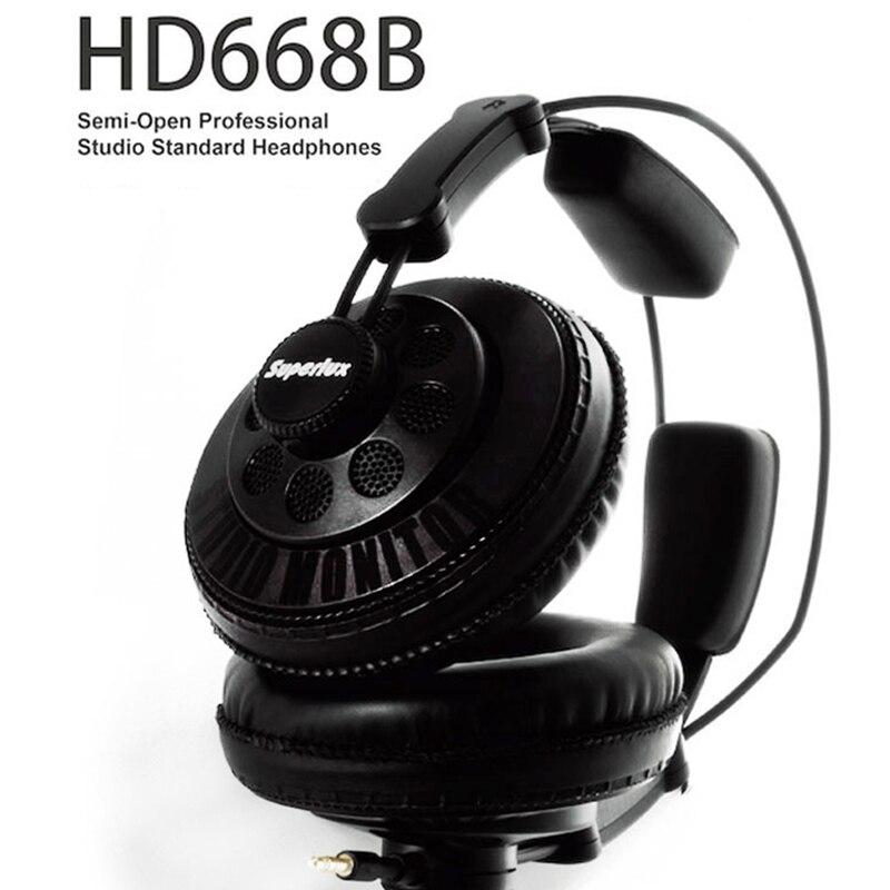 Original Superlux HD668B Headphones Semi-open Dynamic Professional Studio Monitoring DJ Headset Auriculars Free Shipping