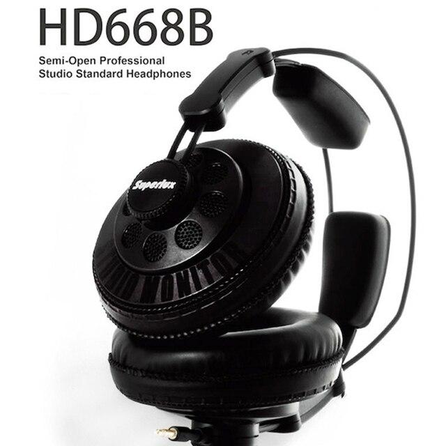 Superlux HD668B Наушники Проводные Наушники полуоткрытые Динамический Мониторинг Профессиональная Студия Наушники Бесплатная Доставка