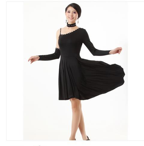 2016 Limited Promotion Women Polyester Spandex Tango Dress Adult Latin Dance Clothes One-piece Dress Costume For Woman