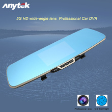 Anytek T6 4.3″ Dual Lens Car DVR Rearview Mirror Camera Full HD1080P Video Recorder Rear Camera Night Dashcam G-sensor Black Box