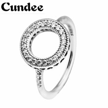 Hearts of Halo Ring 925 Sterling-Silver-Jewelry Clear CZ Rings for Women Silver 925 DIY Jewelry Mother's Day Ring Wholesale