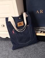 Original Fashion Handbag Personality One Shoulder Leisure Package Cowboy Cloth Little Fresh College Female Students Shopping