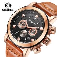 OCHSTIN Sport Watches Men Luxury Brand Leather Strap Army Military Men Watch Clock Male Quartz Watch Relogio Masculino 2017 saat