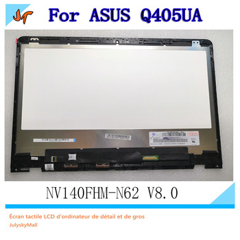 For ASUS VivoBook flip two in one Q405UA Q405U 14 inch LCD display LCD touch screen assembly + with frame 1920X1080 resolution