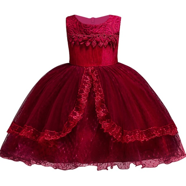 Girls Princess Flowers Elegant Weddings Dress Party Princess Dress Kids Clothes Girls Dresses for Christmas New Year custumes girls christmas xmas dresses kids girls princess party carnival tutu dress baby girl red new year fancy party dress up outfits