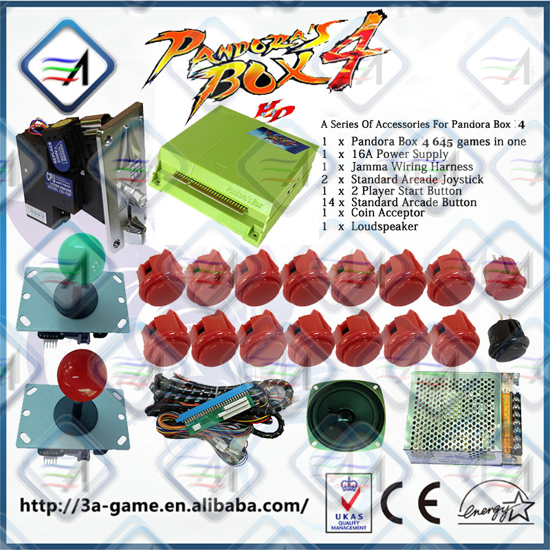 aliexpress com buy pandora box 4 645 in jamma board coin aliexpress com buy pandora box 4 645 in jamma board coin acceptor power supply jamma wiring harness aracde button joystick diy accessories kit from