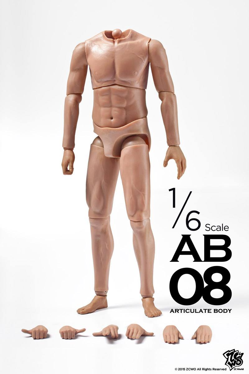 ФОТО ZCWO 1/6 AB 08 Men Articulate Body,In stock!