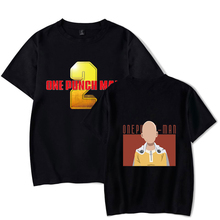 New One Punch Man Season T shirt Black Men/Women Top Wild O Neck Summer 2 Tshirt Cotton Comfortable Tee 4XL