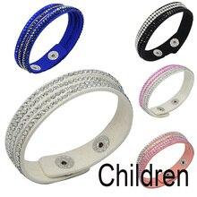 Velvet Bracelet Paved-Leather Fashion Jewelry LFPU for Crystal Child