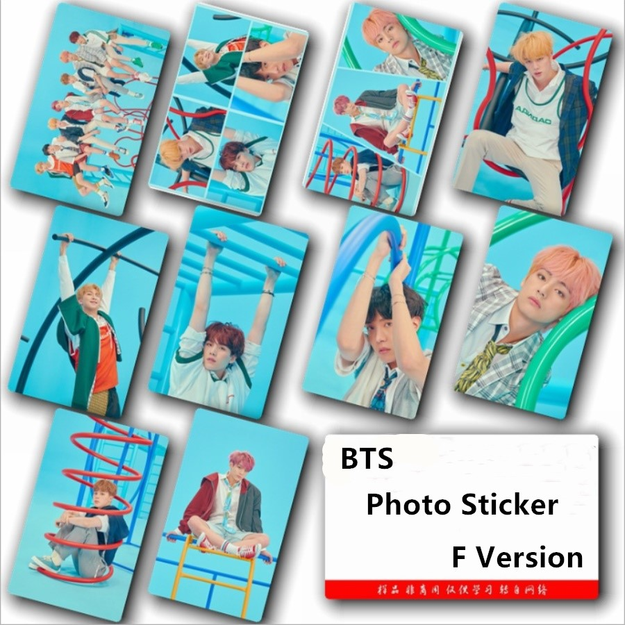 Beads & Jewelry Making Kpop Bts Love Yourself Answer F Version Sticky Photocard Bangtan Boys New Album Card Sticker 10pcs/set Rap Monster Jin 100% Original Jewelry Findings & Components