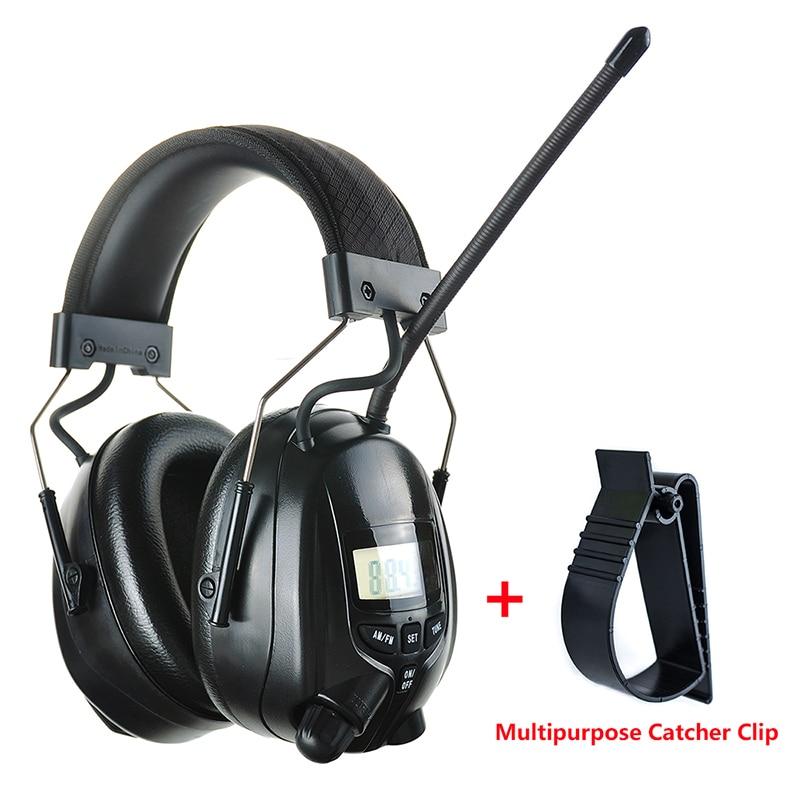 Elektroniczne radio FM AM Nauszniki ochronne Ochrona słuchu Dźwiękoszczelne nauszniki Polowanie Ochraniacze na uszy Słuchawki redukujące hałas