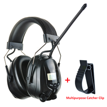 Electronic FM AM Radio Earmuffs Shooting Hearing Protection Soundproof Ear Muffs Hunting Ear Protector Noise Reduction