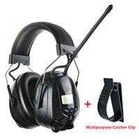 Eletrônico fm am rádio earmuffs tiro proteção auditiva à prova de som orelha muffs caça protetor de ouvido redução ruído fone de ouvido|ear protector noise|ear protector|earmuff shooting -