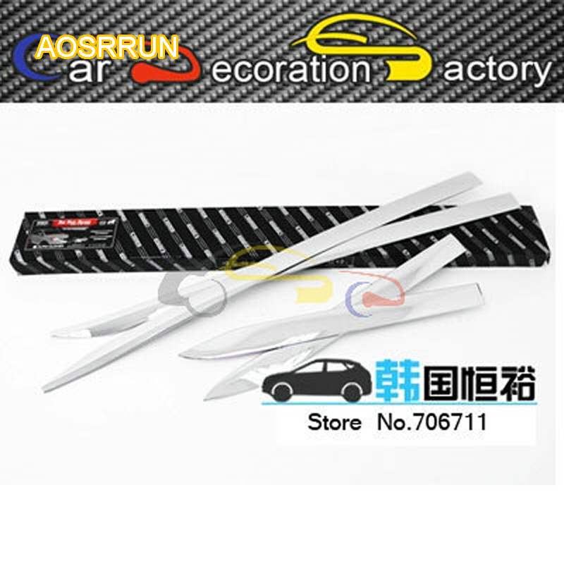 AOSRRUN Rubbing strip Article scratch-resistant decorative plating a side door Article by the door for Ssangyong Korando 2014