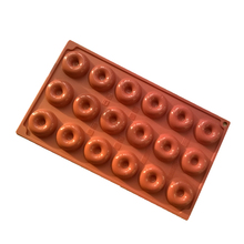 1pc 18 cavity Donuts Mold Silicone Small Cake Molds for Baking Mini Dessert Donut Mould