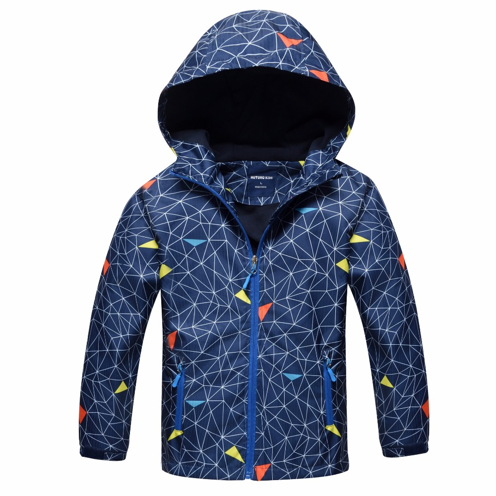 2018 Children's Jackets For Boys Warm Casual Windbreaker Coats Tops Kids Outerwear Sporty Hoodie Clothes Double deck Waterproof