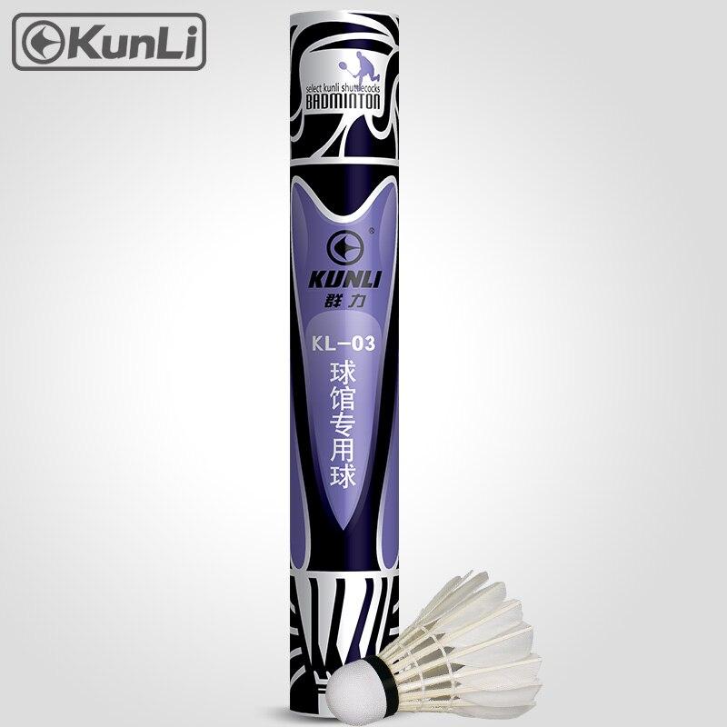 Bezmaksas piegāde Kunli badmintona slēģi KL-03 labākās kvalitātes ūdens pīļu spalvu slēģi sacensībām Super izturīgs