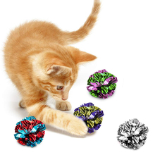 Crinkle Balls for Cats Soft Lightweight Toy for Both Kittens Adult Cats Shiny Stress Buster Toy Crinkly Sounds Safe for Kitty