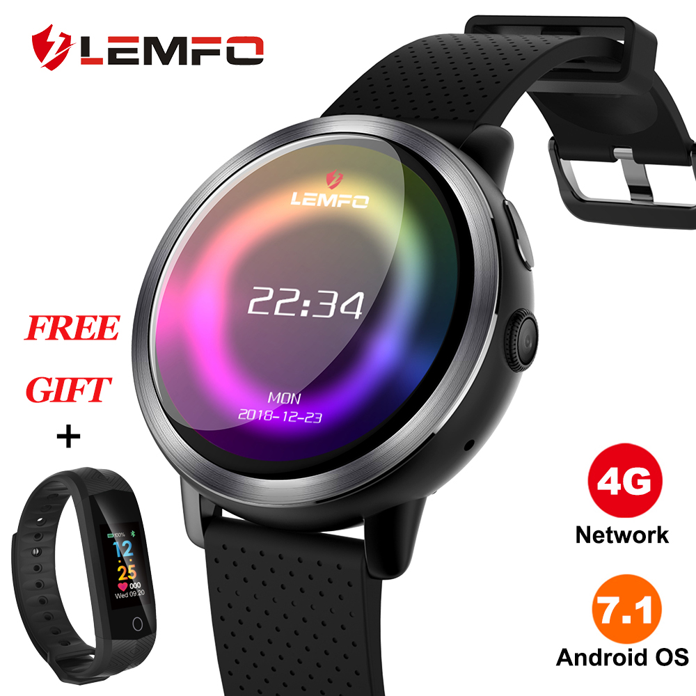 LEMFO LEM8 Smart Uhr Android 7.1 LTE 4G Sim WIFI 1,39 Zoll 2MP Kamera GPS Herz Rate Neue Jahr Geschenke smartwatch für Männer Frauen