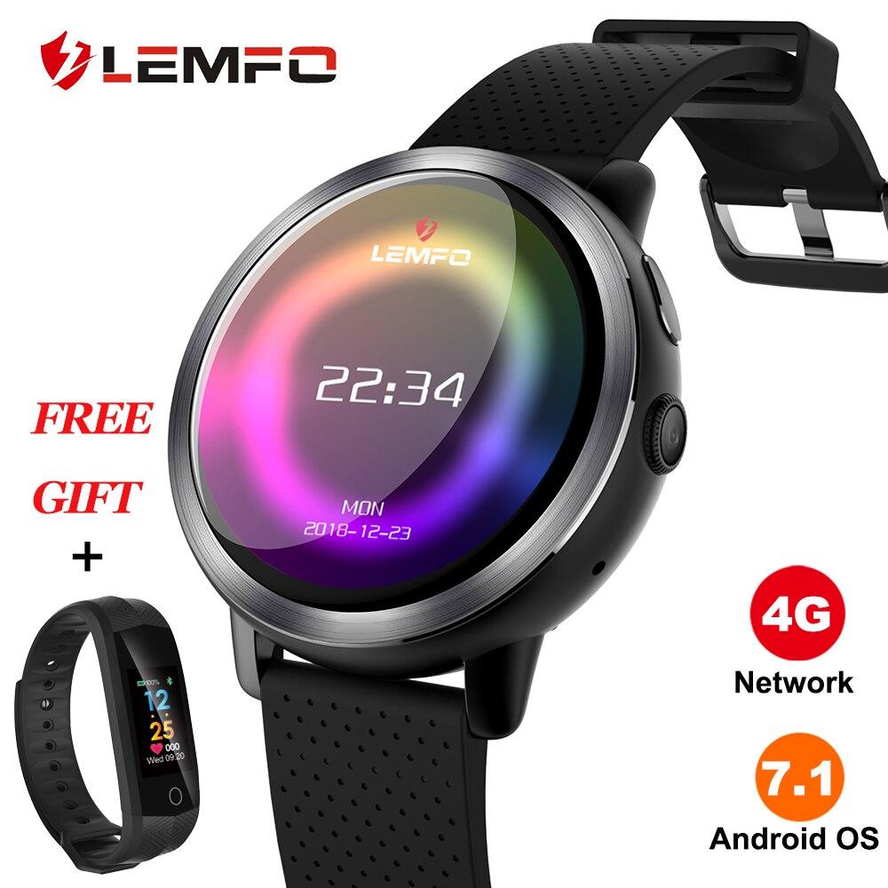 LEMFO LEM8 reloj inteligente Android 7,1 4G LTE Sim WIFI 1,39 pulgadas 2MP Cámara GPS de Año Nuevo regalos Smartwatch para las mujeres de los hombres