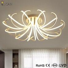 LICAN, дизайн, потолочный светильник s для гостиной, спальни, пульт дистанционного управления и затемняющий светильник, 110 В, 220 В, потолочный светильник