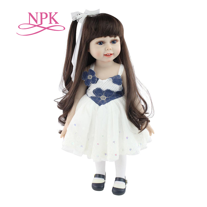 18 Inch Handmade Doll Full Body Vinyl Silicone Baby Doll Toys Realistic Toddler Reborn Doll For Children Birthday Gift