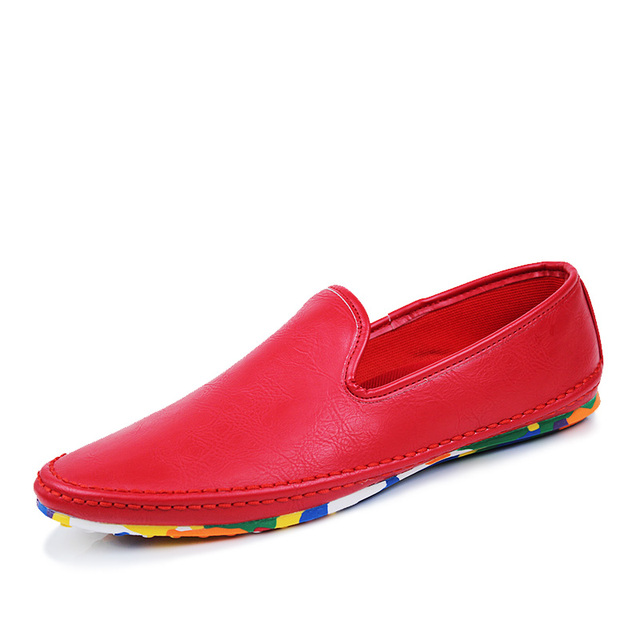 Hommes Chaussures en cuir Mocassin décontractée chaussures respirant Casual Male chaussures - Jaune xBnfpp