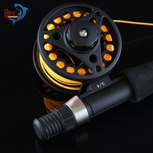 2017 Streamer Trout Fly Rod 6'6″ 1.98m Portable Travel Telescopic Rod Mini Fly Fishing Pole Metal Reel Set Fly Fishing Rod Combo