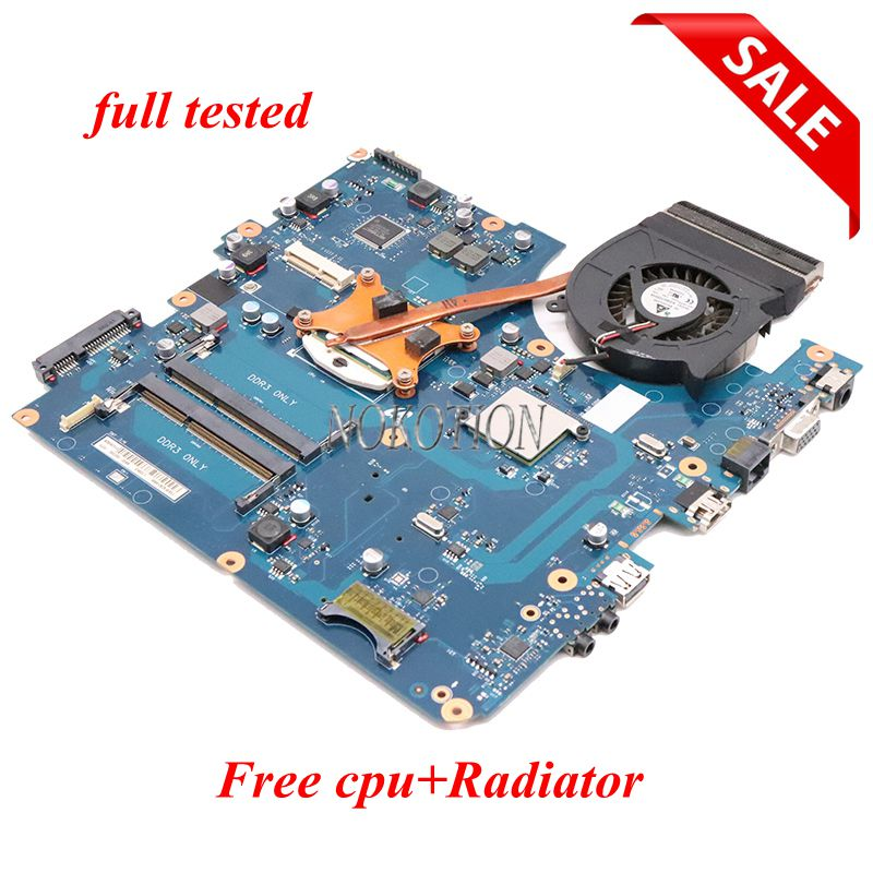 NOKOTION BA92-06785A BA41-01219A Laptop Motherboard For Samsung R540 NP-R540 Mainboard BREMEN-C HM55 DDR3 Free Cpu + Raidiator