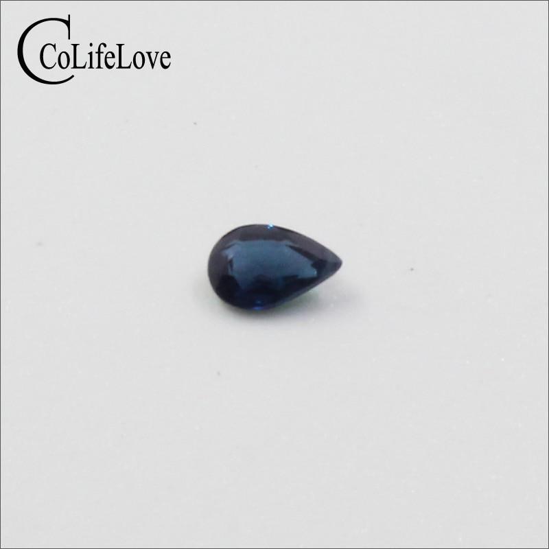 3mm*5mm 100% Natural Sapphire Loose Stone Pear Cut Sapphire Loose Gemstone China Sapphire Gemstone