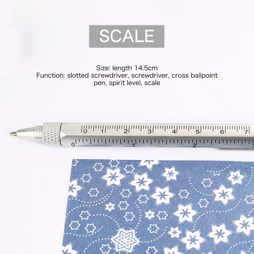 1/2/4 шт. в партии, 6 в 1 многофункциональная отвертка линейка-уровень Пластик инструмент ручка для телефона прибор для измерения уровня Сенсорный экран ручка
