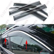 4x Door Window Visor Deflector Rain Guard Cover For Toyota LC Prado FJ150 10-15 недорого