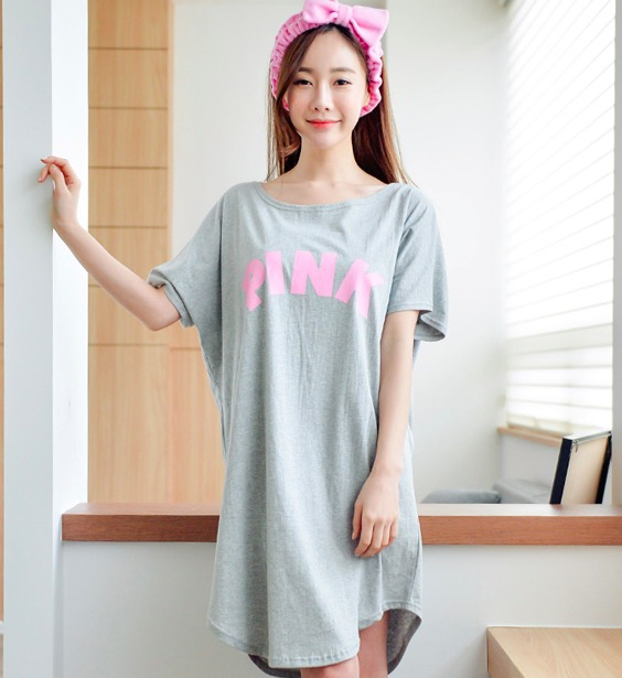 Millyn 2018 New Summer Lady Long   Nightgown     Sleepshirts   Cute Lovely Cartoon Animal Sleepwear Short Sleeve Cotton Women Nightdress