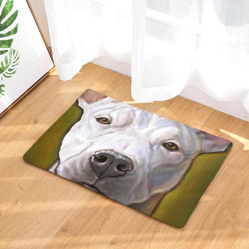 Картина маслом, коврик для собаки, коврик с принтом собаки, коврики для кухни, гостиной, коврики для ванной комнаты, 40X60 см, 50x80 см, красочные коврики с принтом