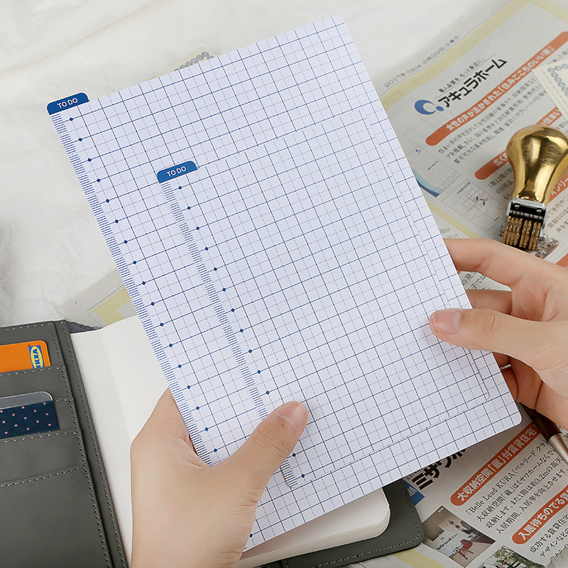 Simple New Writing Tablet Wordpad PP Binder, A5 A6 Notebook Planner Ruler, Creative Stationery