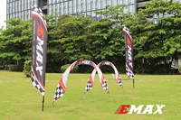 F Cloud Emax Silver Yan Crossing UAV Arch, FPV Multi Axis Race Obstacle Gate Through Race Knife and Banner Set