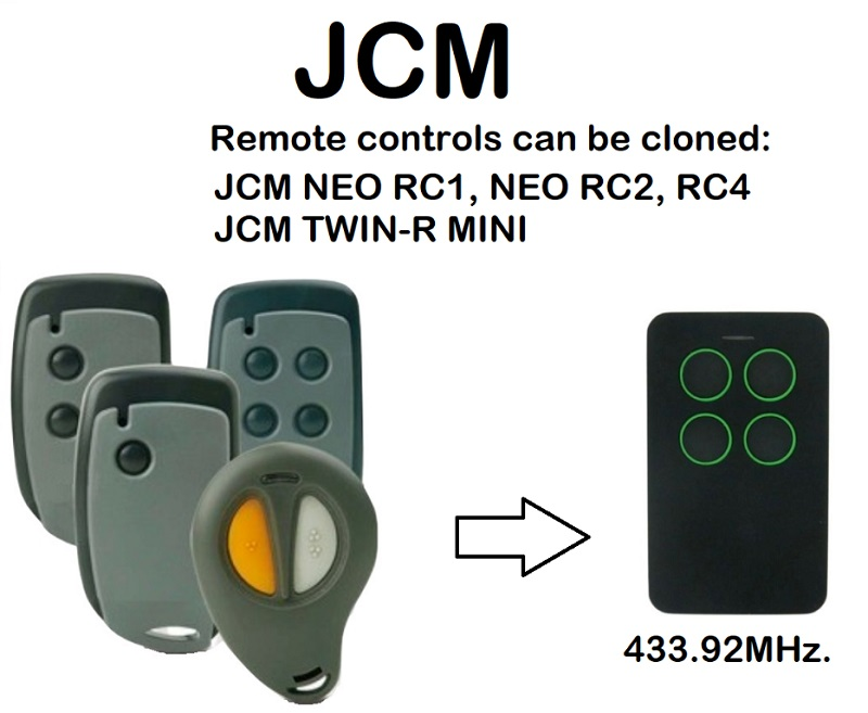 JCM NEO RC1, NEO RC2, NEO RC4, JCM TWIN-R MINI Remote Control DuplicatorJCM NEO RC1, NEO RC2, NEO RC4, JCM TWIN-R MINI Remote Control Duplicator