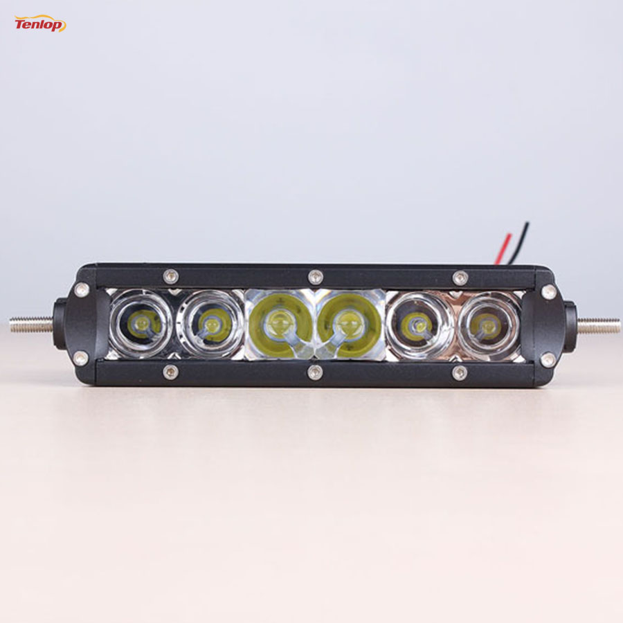 Light Sourcing 7 Inch Single Row 6*5W 30W LED Light Bar For Offroad 4*4 SUV ATV Tractor 12V 24V light sourcing the newest type 6 3 inch 60w cree tuning light black red for offroad atv suv wrangler truck 12v 24v
