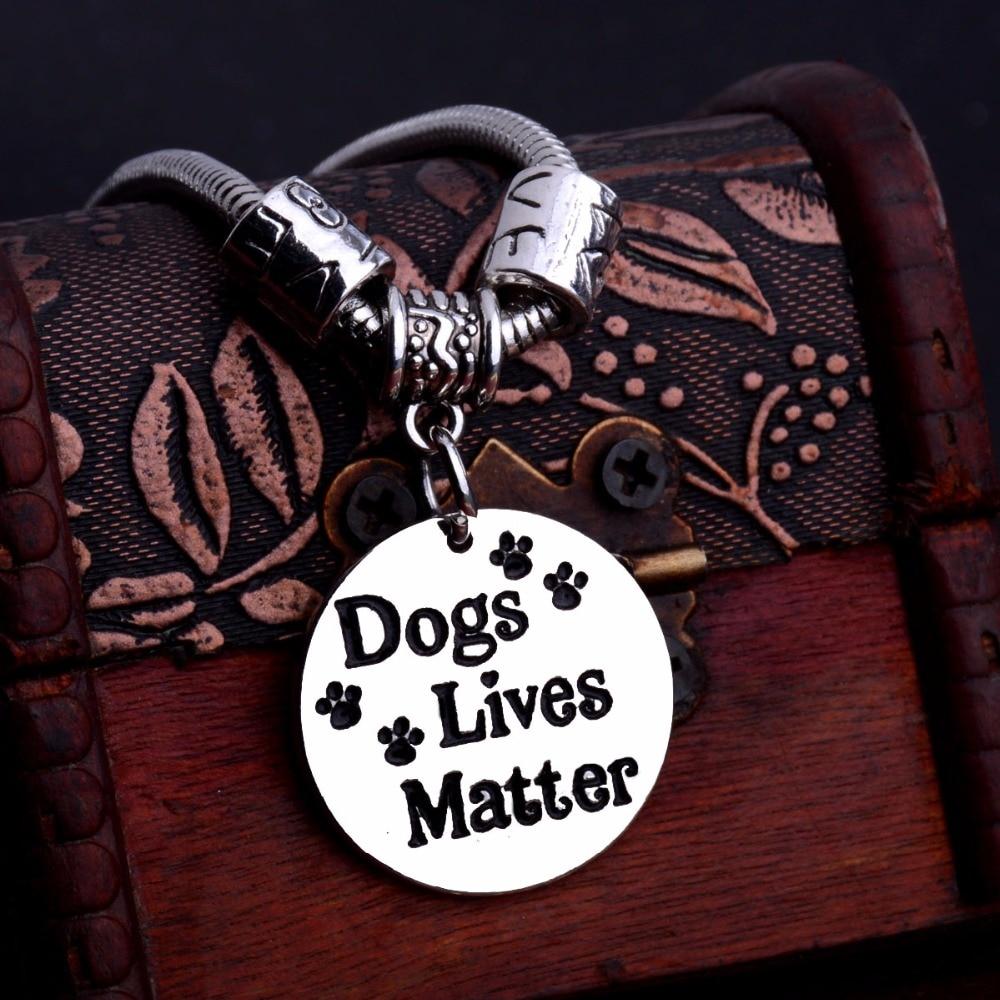 Bespmosp 12pcs/Lot Hot Love Beads Dogs Lives Matter Trendy Charm Bracelet Pet Rescue Chain Bangle Jewelry Cat Paws Print Fashion